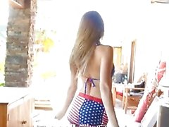 Tiny4K - All American Blake Eden takes a creampie on 4th of July