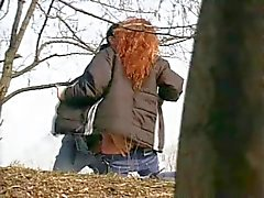 Very Hornt Redhead Teen Girl Outdoor Sex Spy Cam