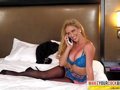Angry Step Mother Cherie DeVille Creampie In Stockings