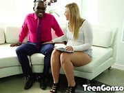 TEENGONZO Chubby blonde teen gets her first black cock
