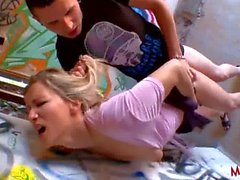 French milf like to suck and fuck young dick