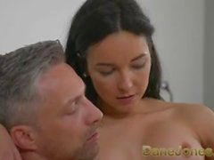 Dane Jones Tight body Brazilian in high heels gets creampie from big cock