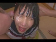 Japanese Teen Deepthroat Bukkake
