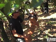 Jade Jantzen Accepts Slave Training Session with Outdoor Rope Bondage