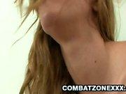 Cute teen Elizabeth Bentley gets her pussy a thorough