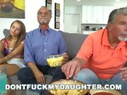 DON'T FUCK MY DAUGHTER - Liza Rowe Fucked By Glen While Daddy Sleeps