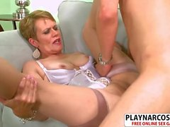 Hot Not Mother Marla Jones Seduces Sweet Young Son's Friend
