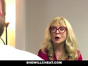 Older MILF Nina Hartley Hires Young Stud For Hardcore Sex