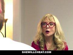 Older MILF Nina Hartley Hires Young Stud For Hardcore Sex