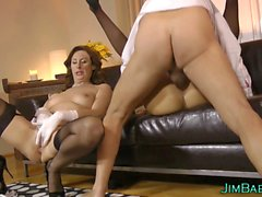 brit milf mouth spunked teen