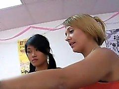 Lesbo sex in public