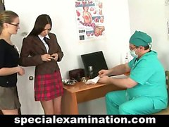 Nasty doctor and shy college babe