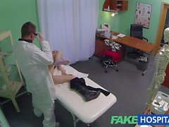 FakeHospital brunette loves getting fucked from behind