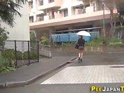 Teens urinate in public