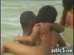 Three Black Lovers At The Beach