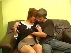 Moden Kvinde & Ung Fyr - Mature Woman & Young Boy 10