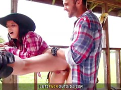 Hot Cowgirls gets Fucked by Cowboy Outdoors
