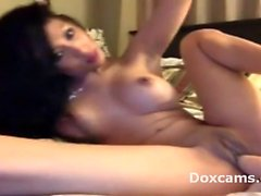 Amateur hot asian teen fingering and dildoing
