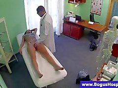 Real patient getting a pussy examination