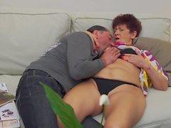 Mom and granny suck and fuck big cocks