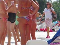Sexy Amateur Bikini Babes Public Pool Voyeur HD Spycam Video