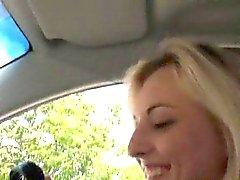 Amateur blondie teen Katy Rose screwed up by stranger