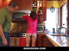 DadCrush Hot StepDaughter Fucked In Kitchen