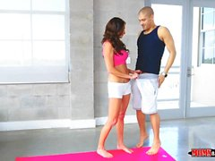 Yoga Stepmom tries Teen Cock