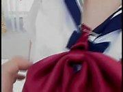 Japanese Schoolgirl gets Mastubated