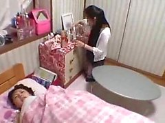 Japanese girl fucked while she is on the phone