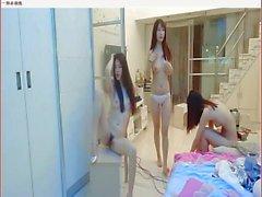 three chinese girl