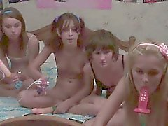 Four latvian teens in live show