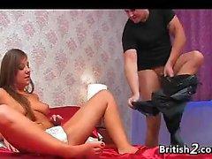 British Slut Fucking With Panties On