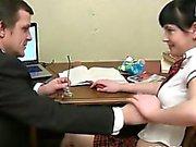 Tricky teacher seducing lovely student