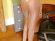 Pantyhose and exotic finger only