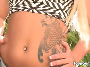 TEENGONZO Cali Carter takes hard pounding and mouth full