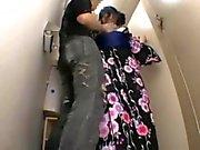 shy teen fucked by intruders in a bathroom
