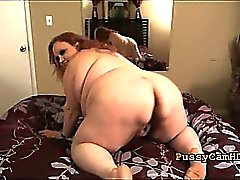 Supersize Slutty MILF Striptease Having Orgasm On webcam - P