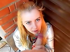 Russian Teen Public Blowjob