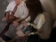 Sexy schoolgirl with a perfect ass gets her peach licked an
