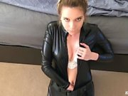Black Widow sucks out 4 loads of cum in a row! Is she satisfied?