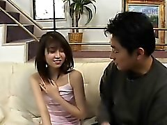 Hairy japanese cunt and sofa fingering