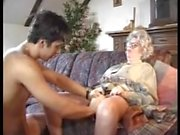 Granny sucks and fucks her grandsons dick
