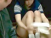 Kinky mature jap dude fucking a teen girl and jizzing on her