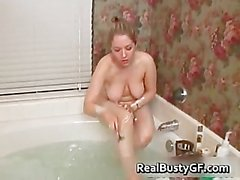 Chubby schoolgirl solo fun in bathtub part5