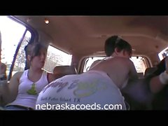 Drunk college chicks expose themselves in public
