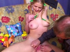 Hot beauty gets shafted hard by her stepdad