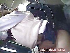 Schoolgirl dalliance on bus