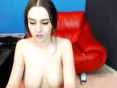 Busty Goth Teen Strip Masturbate On Webcam