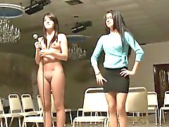 Sorority freshie lezzies getting naked and exposed